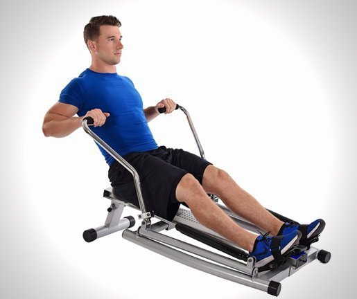 Orbital Rowing Machine with Free Motion Arms
