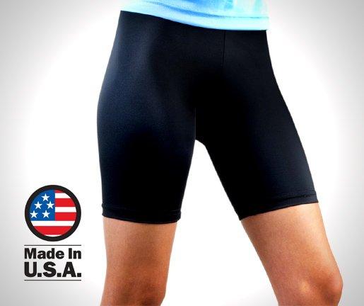 Aero Tech Women's Compression Bike Shorts - Classic Fitness Short - Made in USA