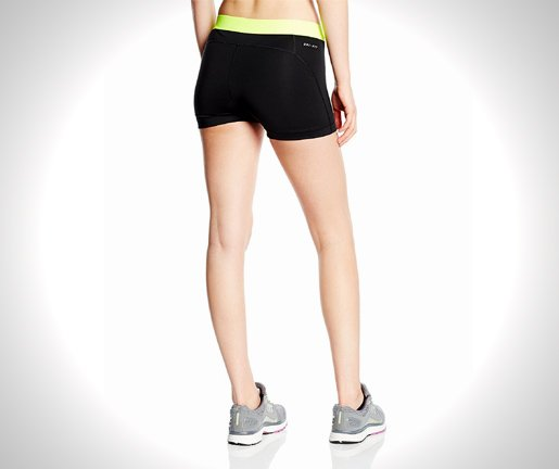 Nike Womens 3 Compression Shorts from back