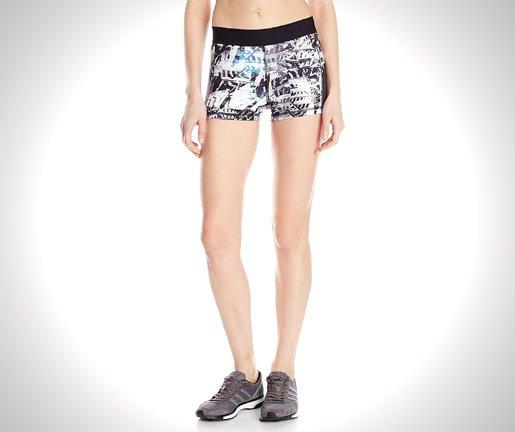 adidas performance womens techfit tight shorts black white