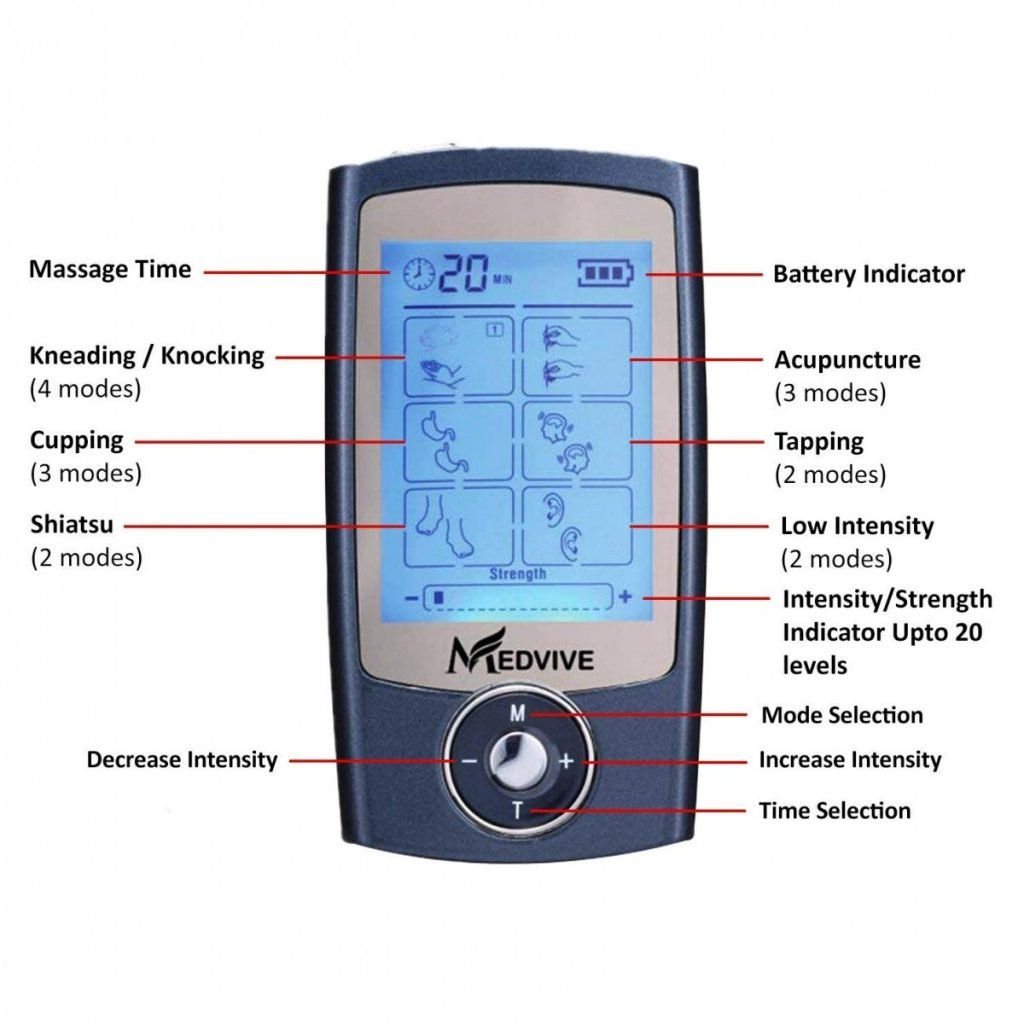 MEDVIVE Rechargeable FDA Cleared Tens Unit