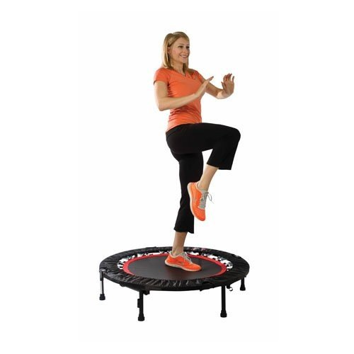 Urban Rebounder Trampoline with Workout DVD & Stabilizing Bar
