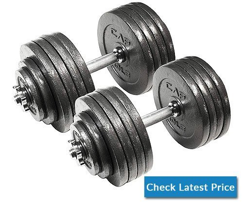 CAP Barbell Adjustable Dumbbell Set, 40 to 200 Pounds