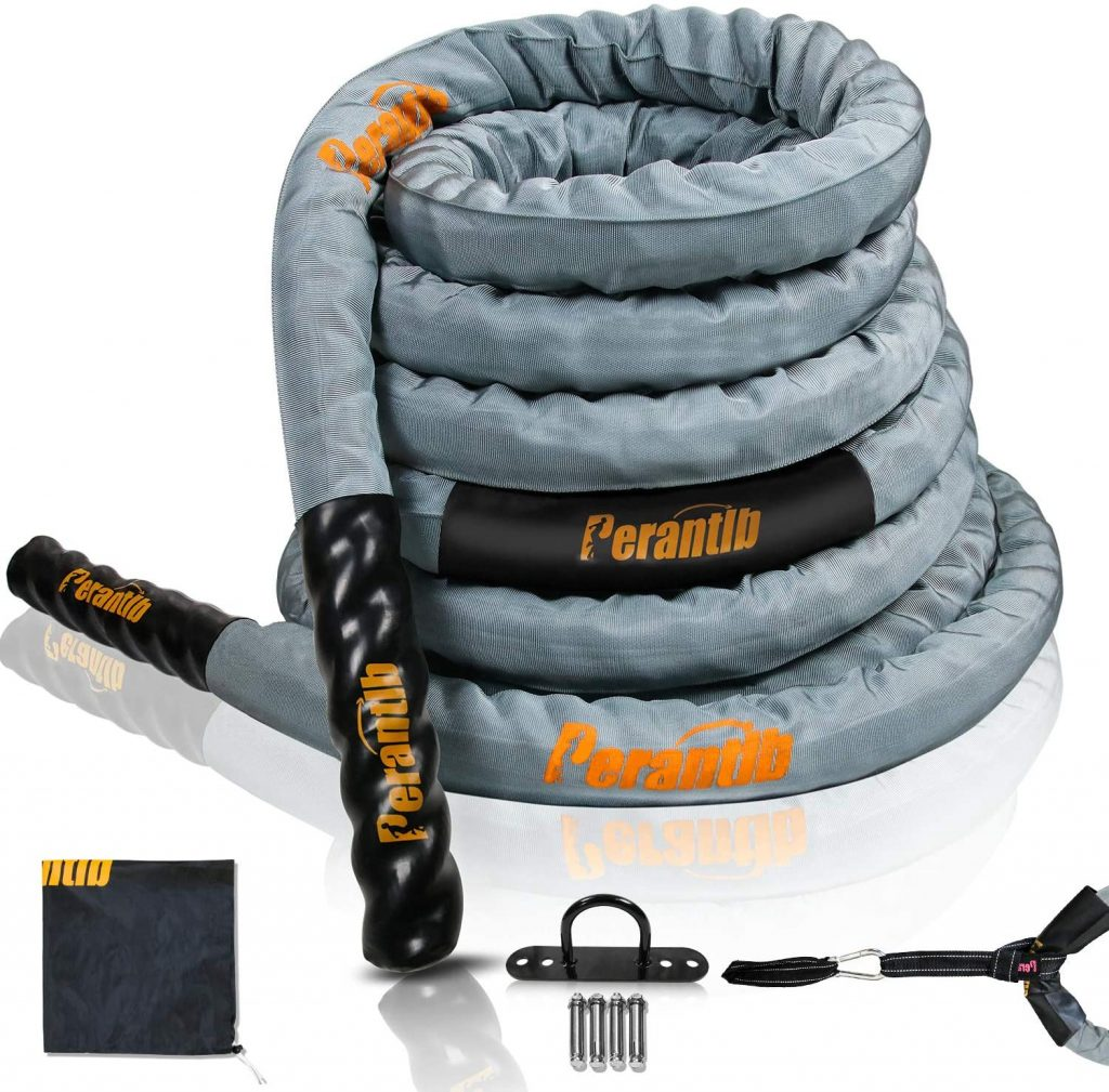 Perantlb Poly Battle Rope with Cloth Sleeve
